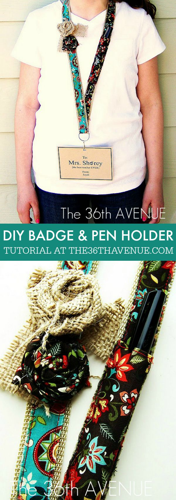 Handmade Gifts - DIY Badge Holder... Perfect for Teacher Appreciation Gifts! PIN IT NOW AND MAKE IT LATER!