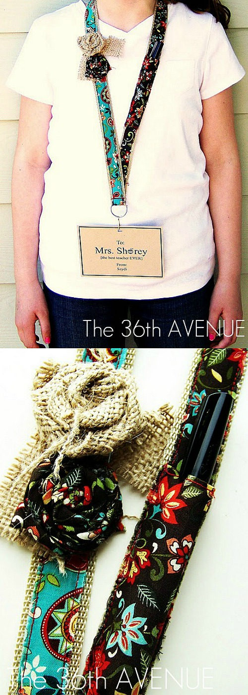 Super cute DIY Badge or Key Holder Tutorial at the36thavenue.com Perfect for Back to School and Appreciation Week!