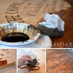 How to stencil furniture by the36thavenue.com