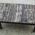 Pallet Wood Stenciled Table.