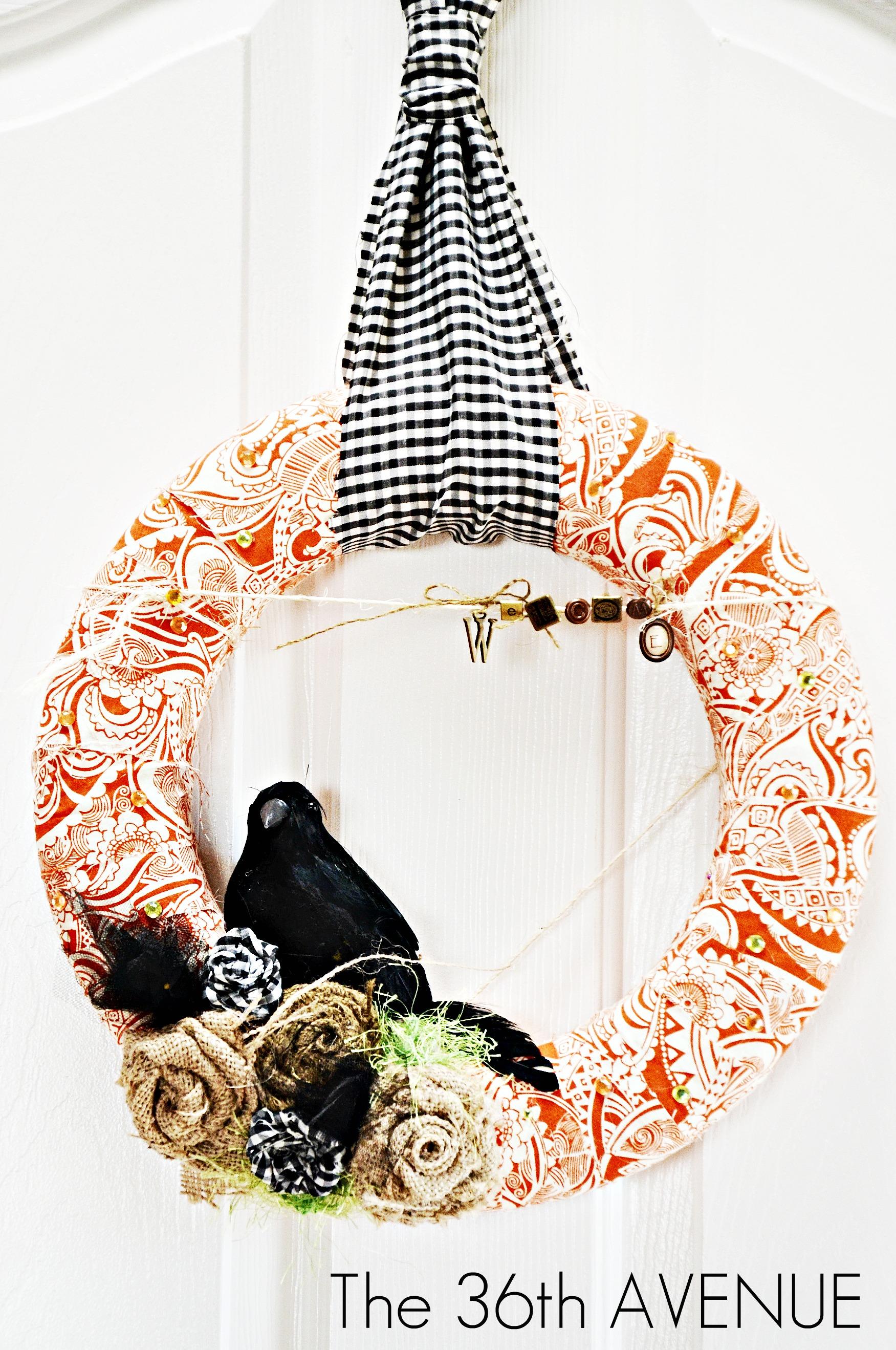 Fabric Wreath TUTORIAL