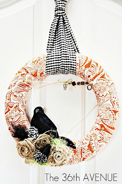 Halloween Wreath Tutorial 1