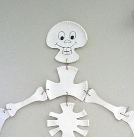 Halloween Crafts – Paper Plate Skeleton