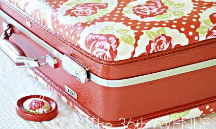 Mod Podged Fabric Suitcase!