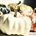 Mod Podge Fabric Dollar Store Pumpkins