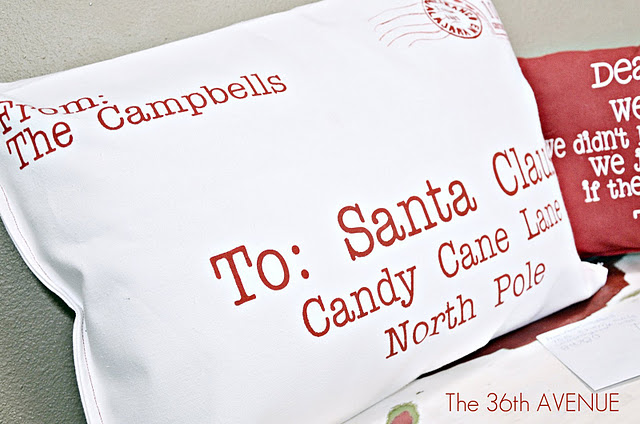 Letter to Santa Pillows