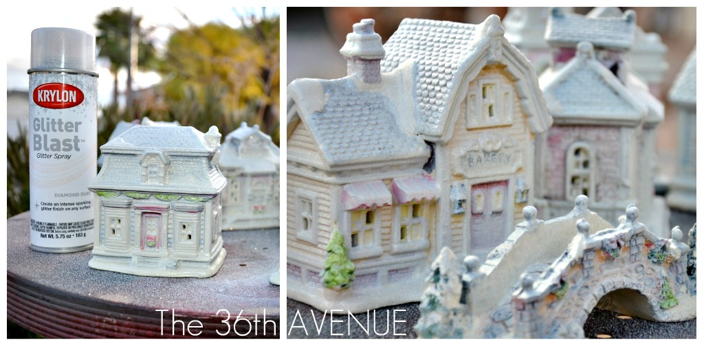How To Store Christmas Village Houses.Diy Dollar Store Christmas Village The 36th Avenue