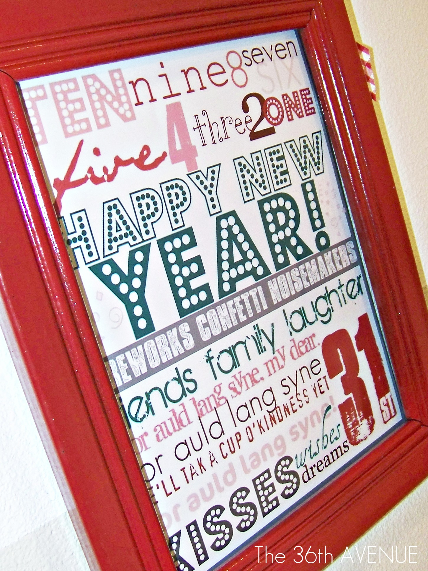 New Year's Printable!