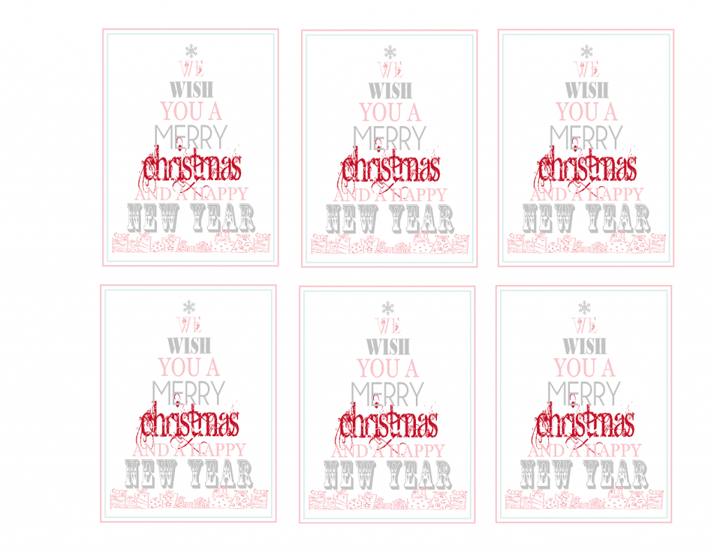 The 36th AVENUE | Free Printable: Merry Christmas & Happy New Year ...