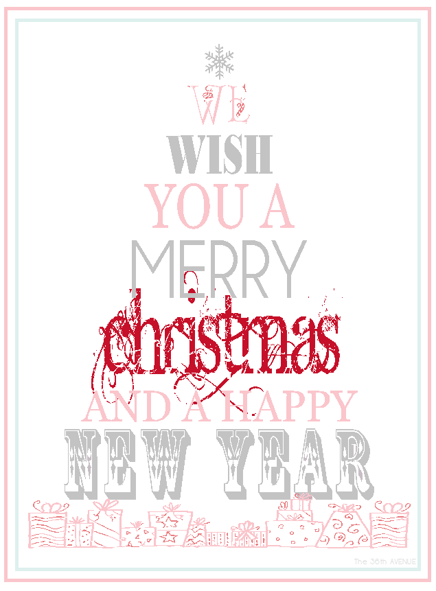 free printable merry christmas happy new year the 36th avenue free printable merry christmas happy
