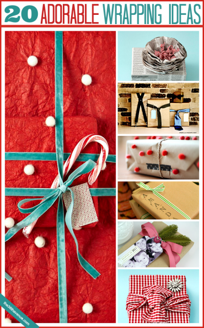 20 ADORABLE Wrapping Ideas at the36thavenue.com ...These are super cute!!!