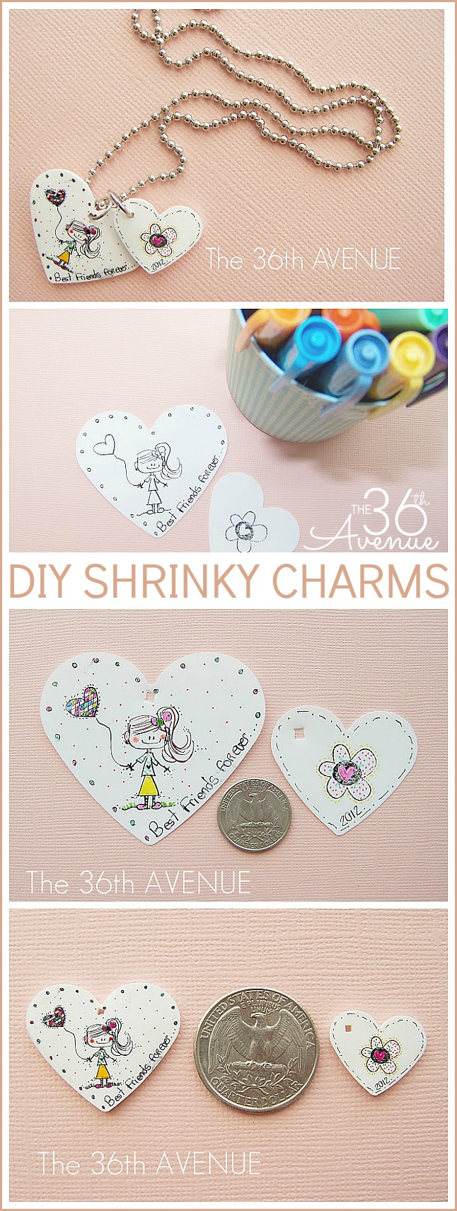 Super cute and easy DIY Shrinky Charm and Necklace Tutorial