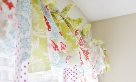 Craft Room: No Sew Window Treatment.