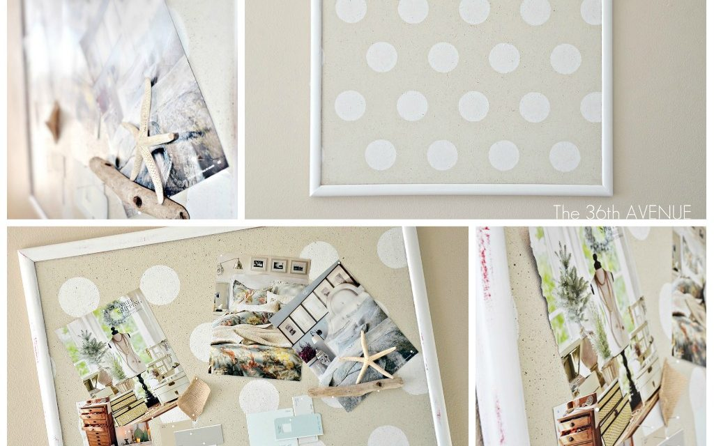 Craft Room: My Polka Dot Pin Board.