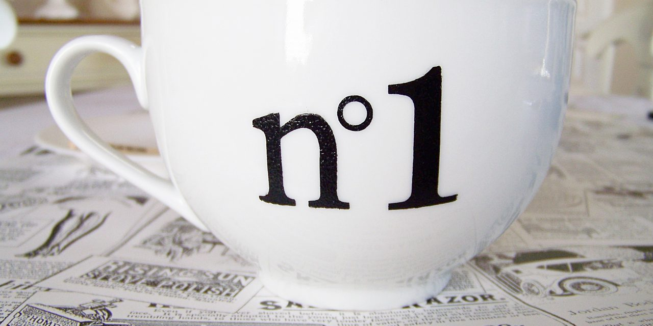 Washable Number Stenciled Mugs