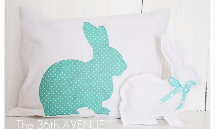 Reversed Pillow Tutorial and Bunny.