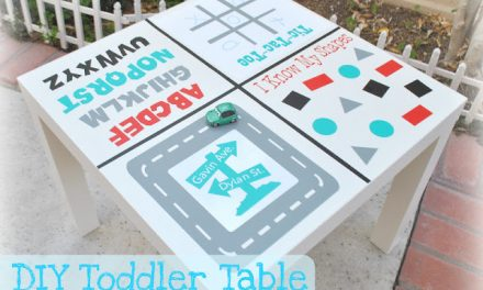 DIY Toddler Game Table