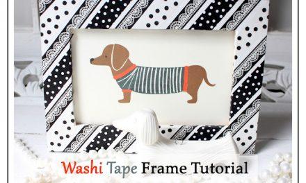 DIY Washi Tape Frame Tutorial