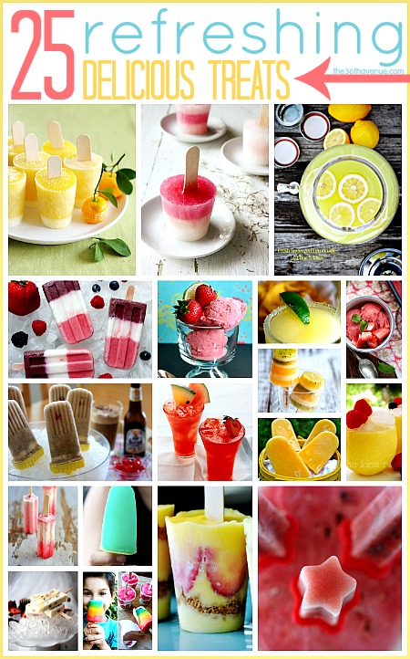 Refreshing Treat Recipes over at the36thavenue.com Homemade deliciousness!