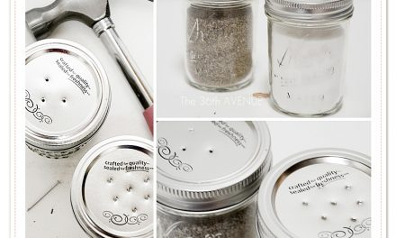 DIY Mason Jar Salt and Pepper Shakers
