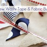 Washi Tape Fabric Bunting by The 36th AVENUE