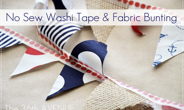 No Sew Fabric and Washi Tape Bunting