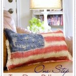 Tie Dye Patriotic Pillow