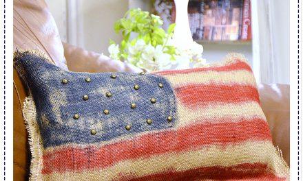 Tie Dye Patriotic Pillow