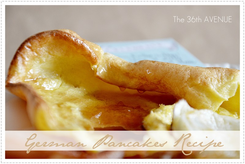 Super easy and delicious German Pancake Recipe… Perfect for any Holiday BREAKFAST!  #recipes #pancakes #breakfast { the36thavenue.com }