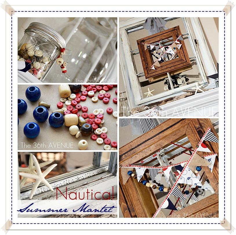 Nautical Summer Wreath and Mantel