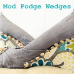 Mod Podge Wedges