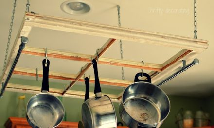 DIY Old Window Pot Rack