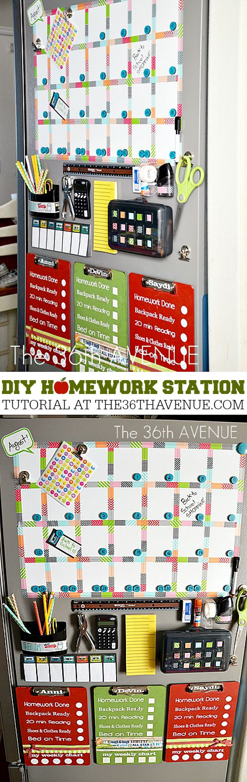 DIY Homework Station at the36thavenue.com Pin it now and make it later!