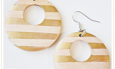 DIY Gold Leaf Earrings