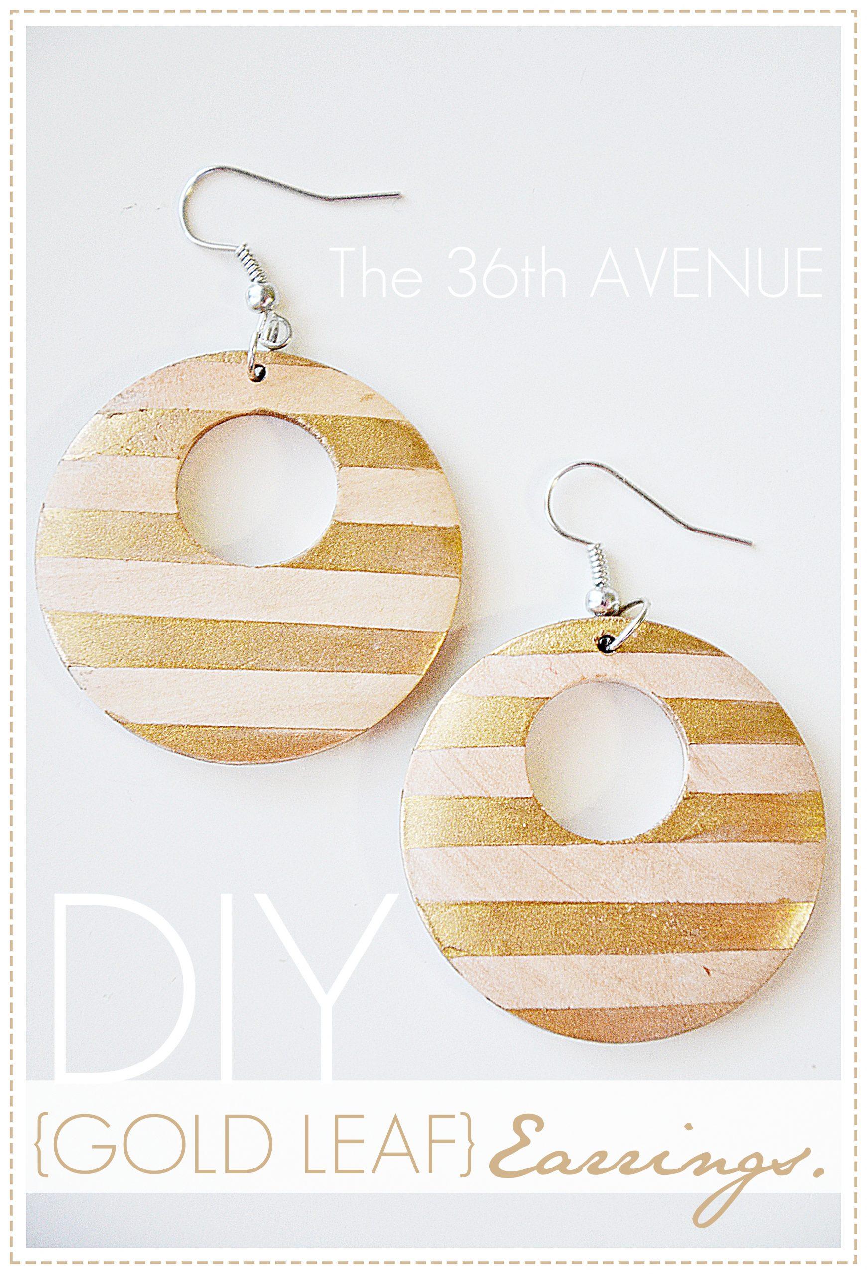 DIY Gold Leaf Earrings