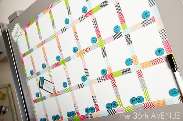 The 36th Avenue Make A White Board Magnetic Calendar