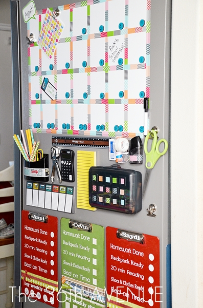 DIY organized back to school station | Back to School: Coolest Learning Spaces