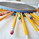 DIY Back to School Pencil Wreath