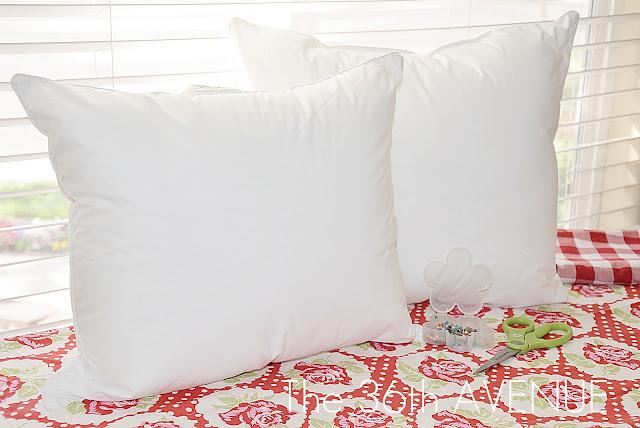 DIY Pillow Insert from a King Size Pillow