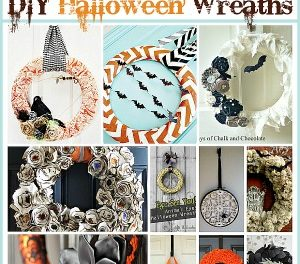 20 DIY Halloween Wreath Tutorials