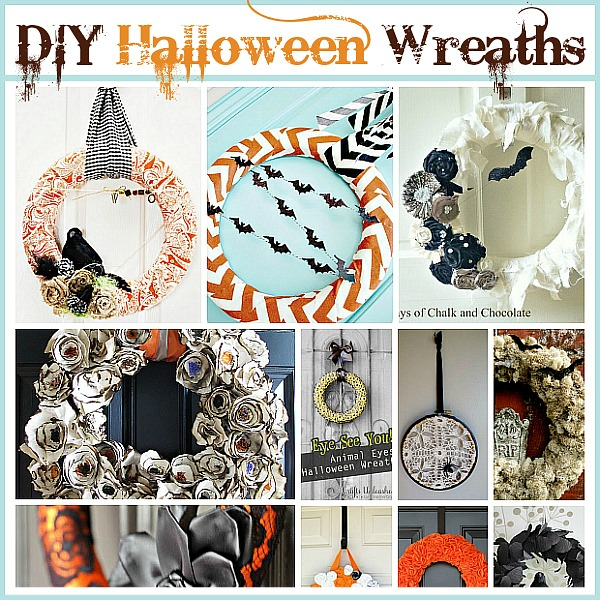 Halloween : Loving these fabulous Halloween Wreath Tutorials at the36thavenue.com