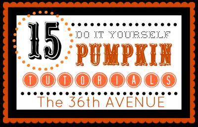15 Pumpkin Tutorials over at the36thavenue.com