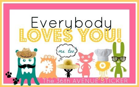 sticker loves you