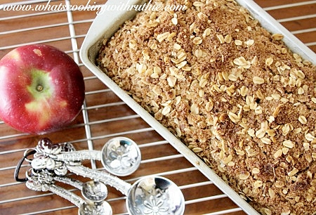 Delicious Apple Pie Bread by whatiscookingwithruthie.com