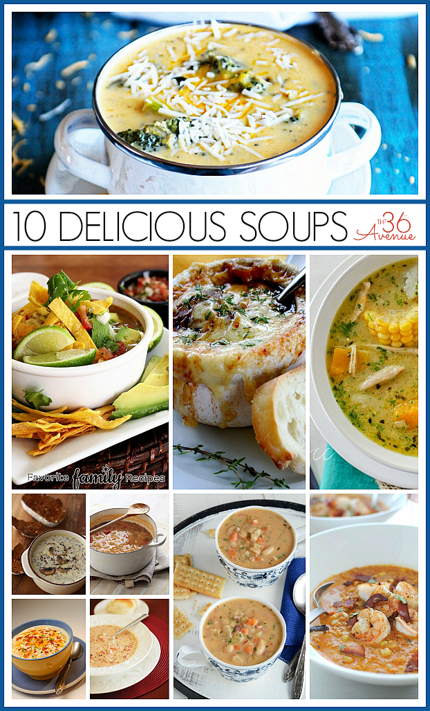 Best Soup Recipes at the36thavenue.com Yum!