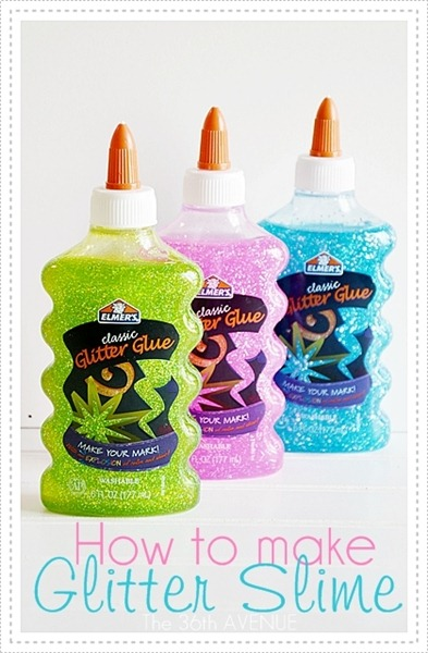 How to make slime with glitter glue without borax or laundry detergent