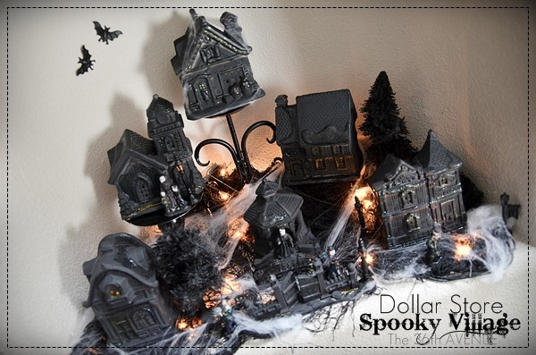 The 36th avenue halloween village diy dollar store craft the