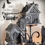 Halloween Village – DIY Dollar Store Craft
