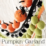Easy and inexpensive Pumpking Garland Tutorial by the36thavenue.com