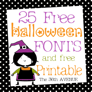 photograph about Fonts Printable referred to as 25 Halloween No cost Fonts and Printable - The 36th Road